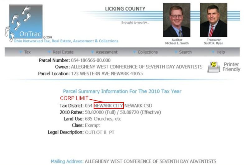 licking county ohio auditor property search